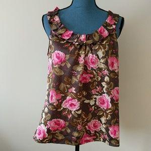 Ann Taylor floral blouse size Large